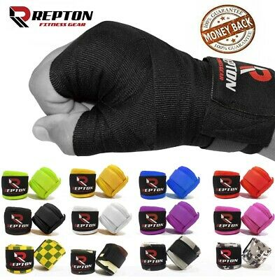 REPTON BOXING HAND WRAP INNER GLOVES WRIST PROTECTOR BANDAGES RED SKULL PRINT