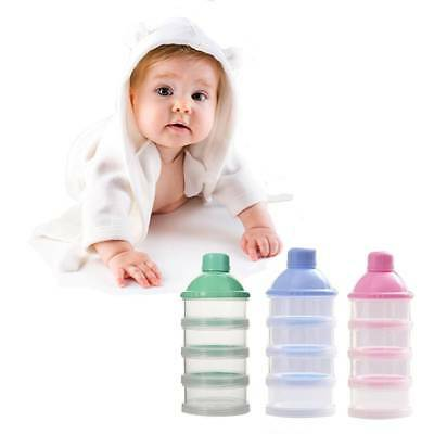 Portable Baby Infant Feeding Milk Powder Food Bottle Container 4 Cells Grid Hot