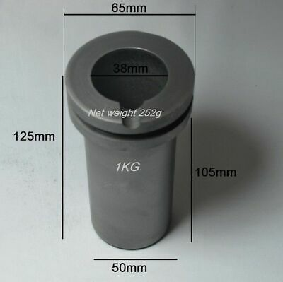 1kg High Purity Graphite Crucible for Melting Furnace  for Gold & Silver 1pc Y