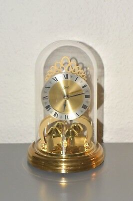 SCHATZ Vintage glass dome clock. Made in Germany. Battery.