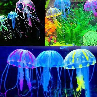 Artificial Jellyfish Aquarium Decoration Glowing Effect Fish Tank Decoration