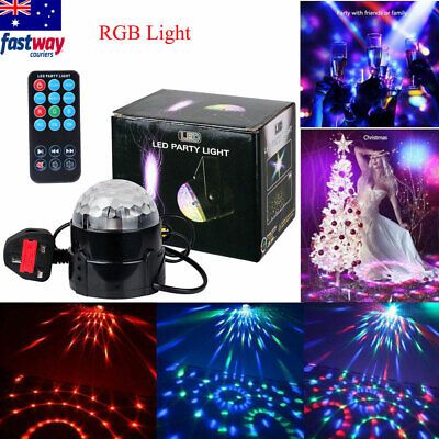 Sound Active 3W RGB Led Stage Light Crystal Ball Disco DJ Bar Party with Remote