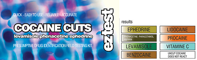 EZ TEST DRUG TEST KIT FOR COCAINE CUTS [Free Shipping]