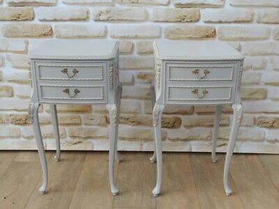 French Tall Bedside Cabinets x 2 Pair (Delivery possible)