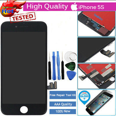 iPhone 5S Black Full LCD Display Touch Screen Digitizer Assembly Replacement UK·