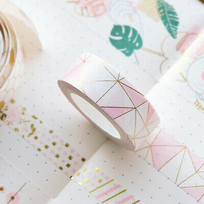 Pink Foil Paper Tape Set Japanese Stationery Scrapbooking Decorative Tapes ^S