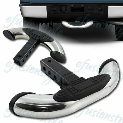"""Receiver Stainless Tow Trailer Hitch Cover Rear Back Step Bar Guard 1.25"""" & 2"""""""