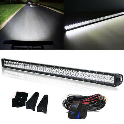 52'' Inch LED Light Bar Offroad Work + Wiring For Ford Truck 4X4 Pickup 4WD 54''