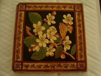 Attractive T A Simpson Victorian Blossom with branch & leaves Tile  19/111