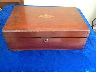 Antique Victorian Mahogany Wooden Writing Slope In Good Original Condition
