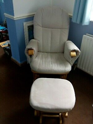 Baby Feeding Rocking Chair And Foot Stool In Great Condition