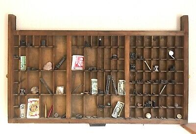 Vintage Printers Type Tray. 42x82mm (Artefacts / Collectables not included)