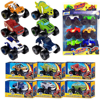 6Pcs Blaze and the Monster Machines Vehicles Toy Racer Cars Trucks For Kids