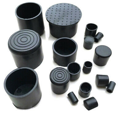 6mm~63mm Black Chair Table Feet Stick Pipe Tubing End Cover Caps Cap PVC Rubber