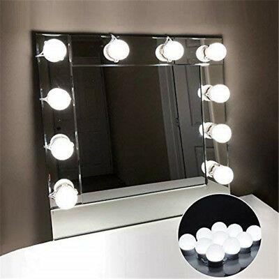 10X LED Vanity Makeup Mirror Lights Kit Hollywood Style Dimmable Table Bulbs AU