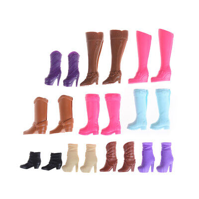 Colorful Boots Casual High Heels Barrel Cute Shoes Clothes For Doll LJ