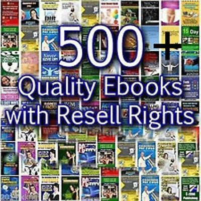 500 Quality Ebooks With Resell Rights