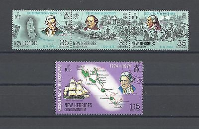 NEW HEBRIDES 1974 SG 192/5 USED Cat £8.50