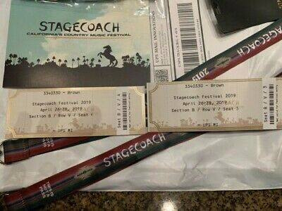 2 Tickets Stagecoach Country Music Festival - Friday 4/26/19 Indio, CA