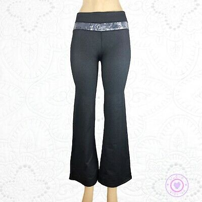 "642888be5b4e3e Lululemon Groove pants Denim Black with Manifesto Print 29"" Inseam 4Tall"