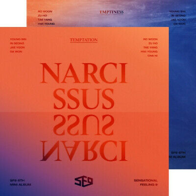 SF9 NARCISSUS 6th Mini Album (NARCISSUS & EMPTINESS) 2Version SET Package SEALED