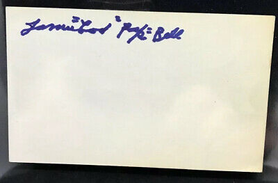 James Cool Papa Bell Signed Index Card Negro Leagues HOF