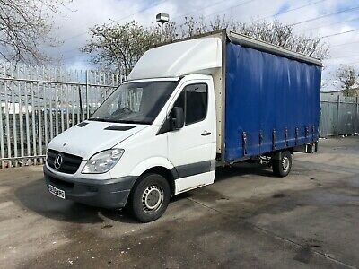 2009 Mercedes Benz Sprinter 15ft curtainsider, tail lift,  spares or repair