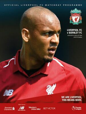 Liverpool v Burnley 10.03.19 official programme brand new mint condition lfc