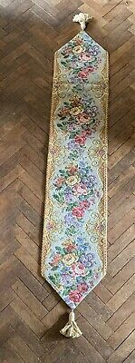 Vintage Metrax Floral Woven Tapestry Table Runner/Wall Hanging