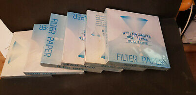 Joblot Job Lot Filter Paper 15cm Qualitative New and Sealed 6 Boxes of 100