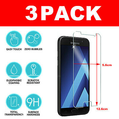 For Samsung Galaxy A3 (2017) Genuine Protective Tempered Glass 9H Screen Film