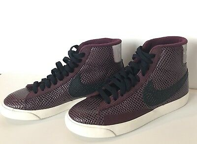 on sale e4688 290a7 Nike Blazer Mid Premium Womens Sneakers Shoes Bordeaux   Obsidian 403729-604