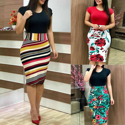 Sheath Business Office Pencil Formal Gift Dress Women's Bodycon Dresses
