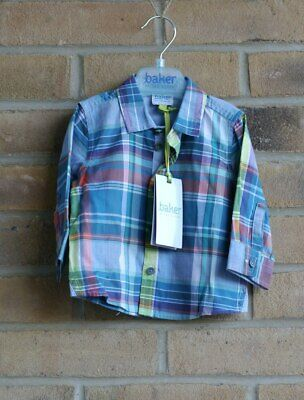 Baby Boy's Ted Baker Blue Checked Shirt 3-6 Months BNWT
