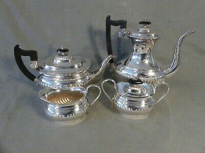 Tee + Kaffeeset England 4 Teile Queen Anne Stil Viners of Sheffield