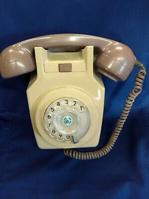 GPO Model 741 1973 vintage Wall Phone in two tone grey