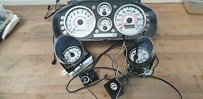 Mitsubishi FTO El Clocks And Gauges, with ally gauge surrounds.