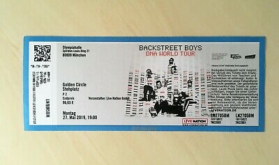 1 Backstreet Boys Karte Ticket Olympiahalle München Golden Circle Stehplatz