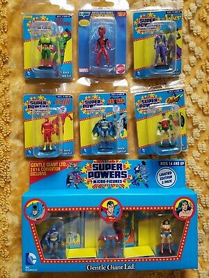 Gentle Giant DC MICRO SUPER POWER lot 2016 Con Ex WONDER WOMAN SUPERMAN & BATMAN