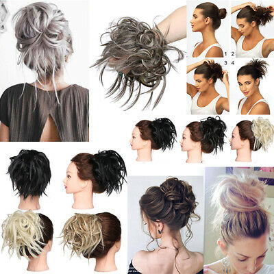 Small Hair Scrunchie Wrap Hairpiece Feathered Spiky Messy Bun Updo