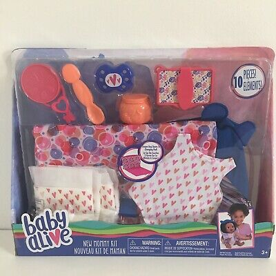 Baby Alive New Mommy Kit Doll Accessories, Multicolor 10 Pieces Set NEW