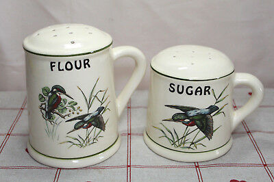 Vintage Brixham Pottery Dawlish Sugar & Flour Sifter Kingfisher Design