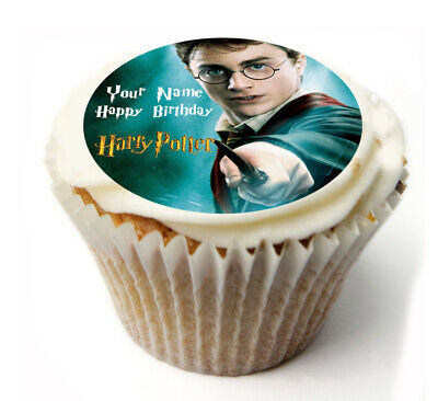 Cupcake Topper Harry Potter  personalised Rice, Icing sheet 926