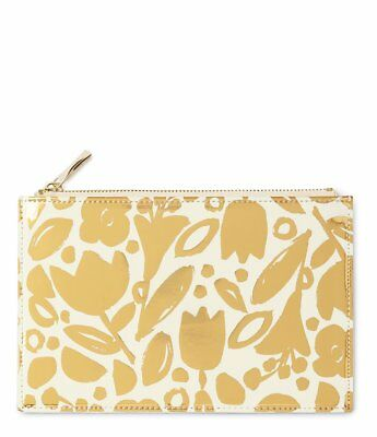 NWT Kate Spade New York Golden Floral Pencil Holder Case, Ruler & Sharpener