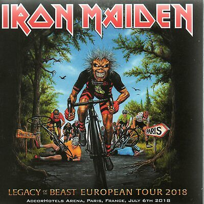IRON MAIDEN - LEGACY OF THE BEAST TOUR - PARIS 06th JULY 2018 - 2CD DIGISLEEVE