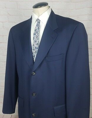 85273e598 HUGO BOSS GOLF Men's Sport Coat Jacket Blazer Navy Blue Super 120's Wool ...