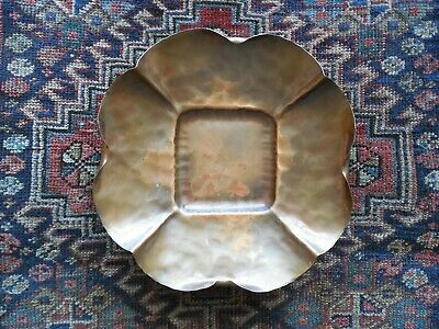 Vintage Arts & Crafts Craftsman Co. Hand Made Hammered Copper Dish Bowl #884