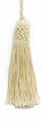 "Ivory Offwhite 4"" Chainette Tassels Victorian Silk [Set of 10]"