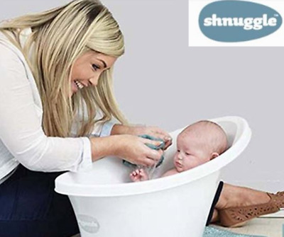 Shnuggle Baby Bath Tub Cosy Foam Backrest Bum Bump Support Bathing Washing Grey
