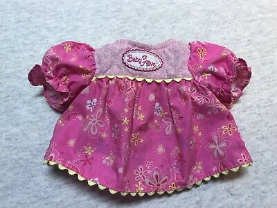 Baby Alive Soft Face Replacement Dress Pink Yellow Flowers 2006 Dress Only